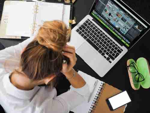 werken op de computer